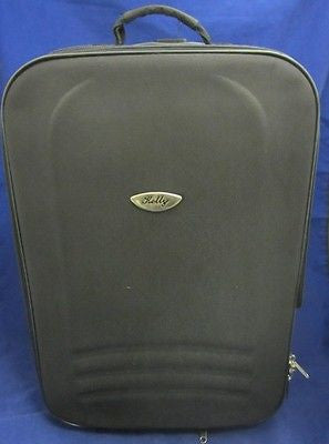 Vintage HOLLY BLACK NYLON CLASSIC LUGGAGE WHEELED Carry On Expandible Carry On