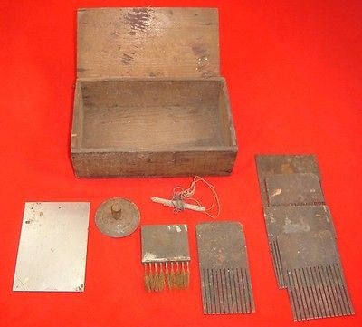 Antique WOOD CHOCOLATE BOX TOOL Fred Rice California Chocolate Shop Garage