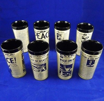 8 Vintage TUMBLER Thermos Cup COFFEE Los Angeles Times