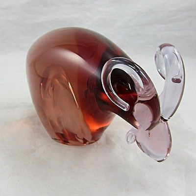 STUDIO ART GLASS Animal RAM Signed/Labeled Czechoslovakia Contemporary/Modern