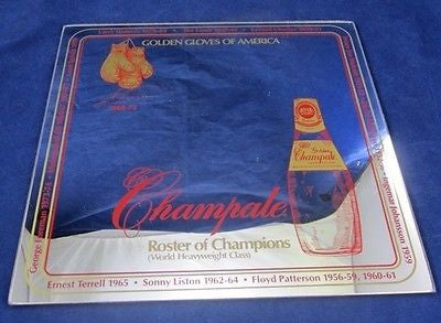 Vintage BAR MIRROR CHAMPALE BOXING Roster Champions George Foreman Muhammed Ali