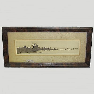 Antique Framed Matted J.Hallar Lithograph Baggage Battle Treasure S3 EP Minn.