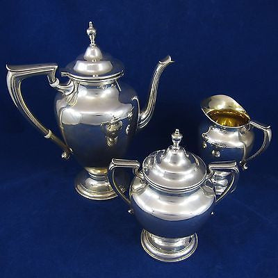 WALLACE #365 COVENTRY 3 Piece STERLING SILVER COFFEE SET 1391 Grams Not Scrap