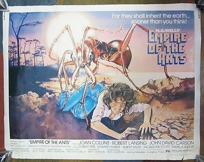 H. G. Wells EMPIRE OF THE ANTS  Movie POSTER Joan Collins Robert Lansing HORROR