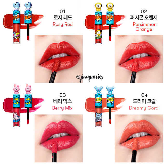 VT x BTS - BT21 Art in Lip Tint 4 Colors