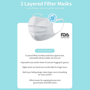 Disposable 3 Layer Mask Value Pack (50pcs)