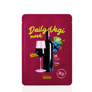 YADAH - Daily Vegi Mask : Wine (BUY 5 GET 5 FREE)
