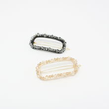 Load image into Gallery viewer, BZSL0397 - Oval Hair Barrette with Multi Crystal
