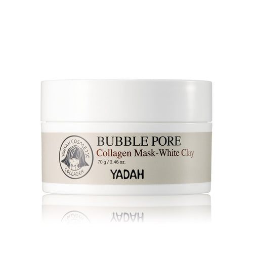 bubble pore collagen mask-white clay