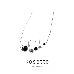 Kosette Gel Pedicure Sticker Chic in Gold