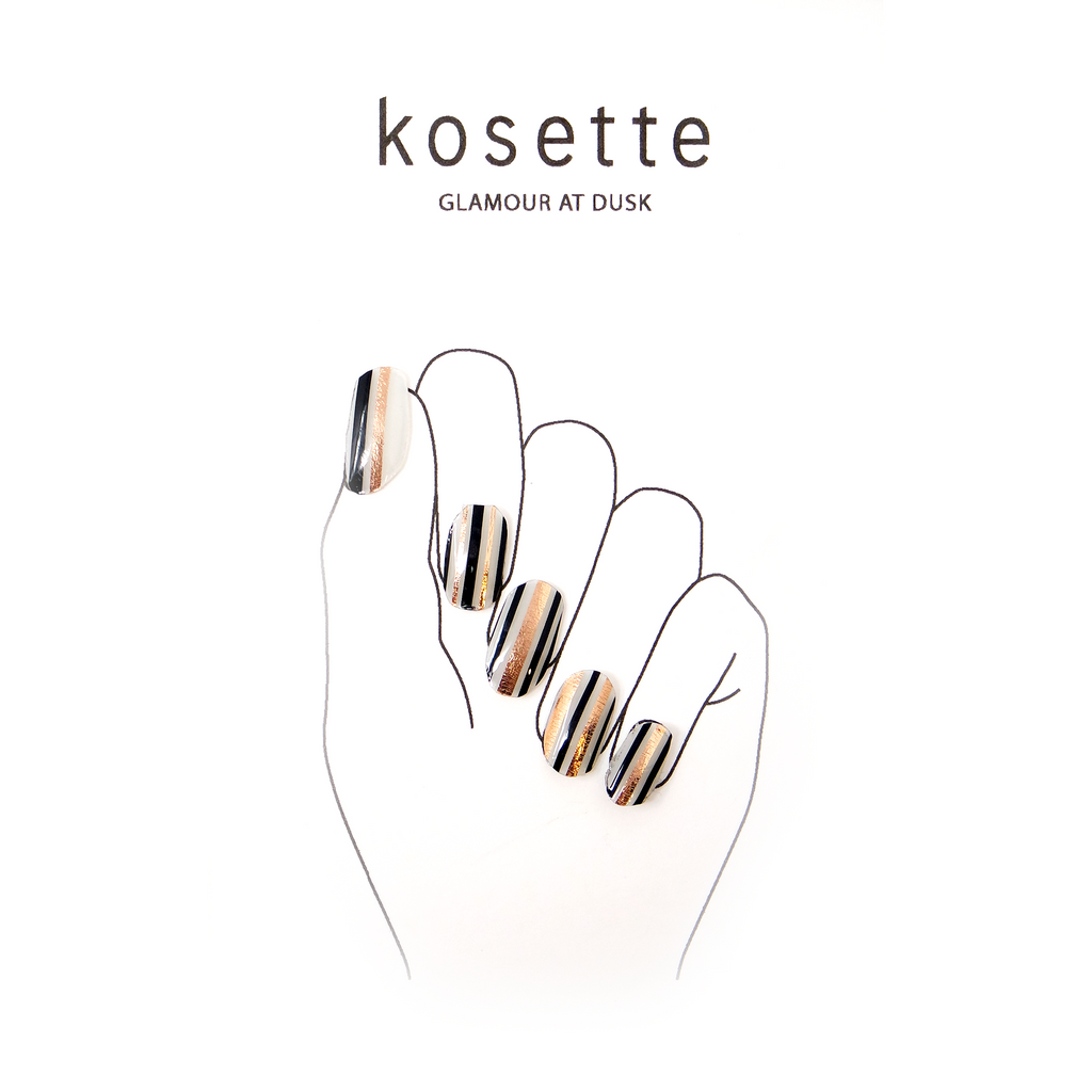 Kosette Gel Nail Sticker Glamour at Dusk