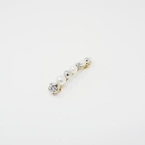 LFAC0185 - French Clip with Pearl and Crystal Ball