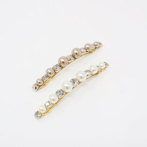 LFAC0313 - French Clip with Pearl and White Crystal