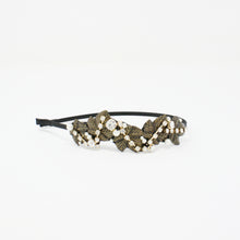 Load image into Gallery viewer, LFHB0475 - Multi Leaf Headband with Pearl and Crystal