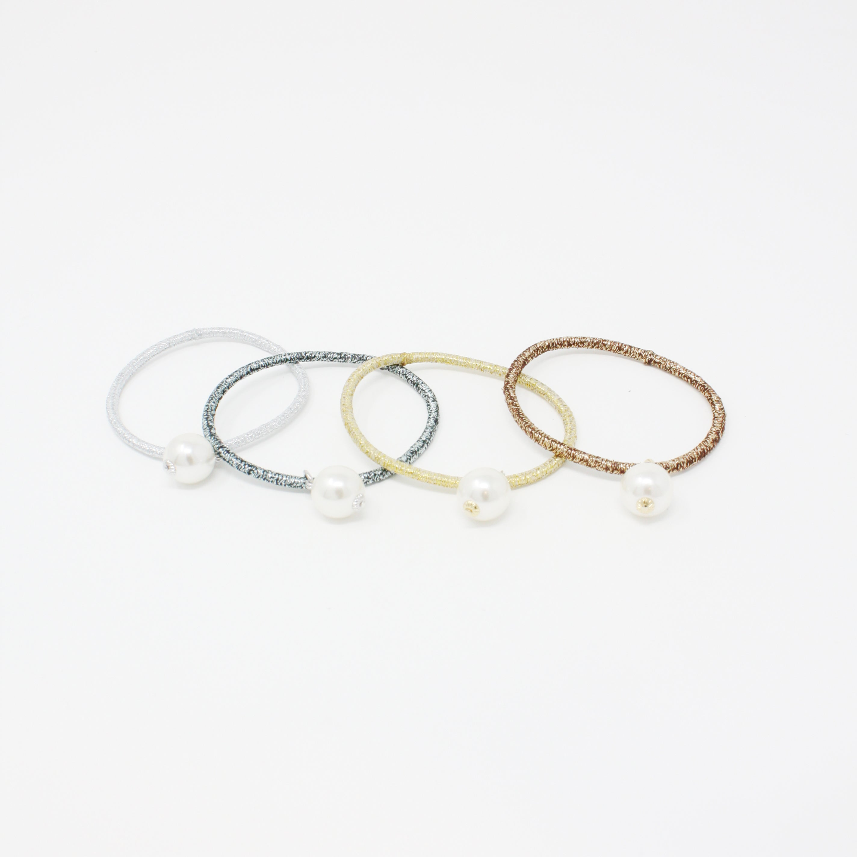 LFPT0630 - Pearl Colored Hair Tie