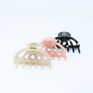 LFSA0188 -  French Claw Hair Clip with Pearl Detail