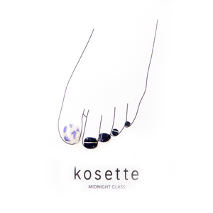 Kosette Gel Pedicure Sticker Midnight Glass
