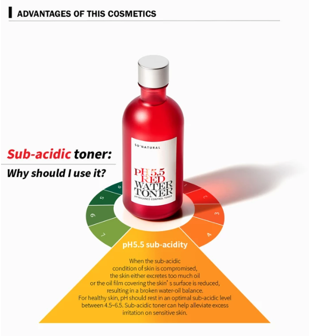 So Natural - PH 5.5 RED WATER TONER
