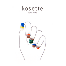 Load image into Gallery viewer, Kosette Gel Nail Sticker Silver Retro