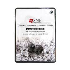 SNP - Charcoal Mineral Black Ampoule Mask (single)