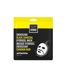 Load image into Gallery viewer, Soo'AE -  Energizing Black Charcoal Hydrogel Mask (single)
