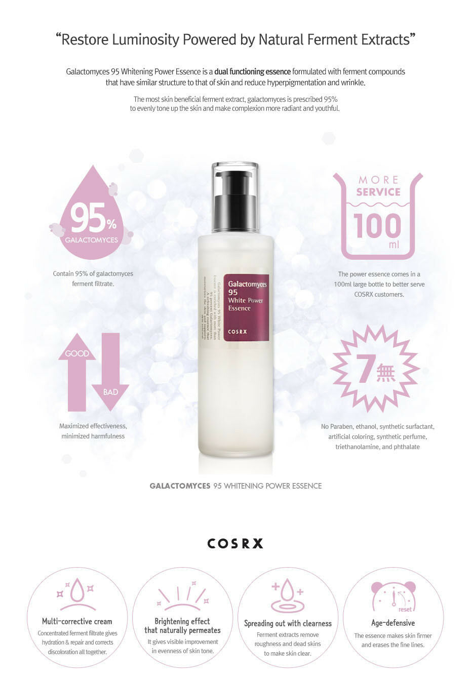 COSRX - Galactomyces 95 Tone Balancing Essence 100ml