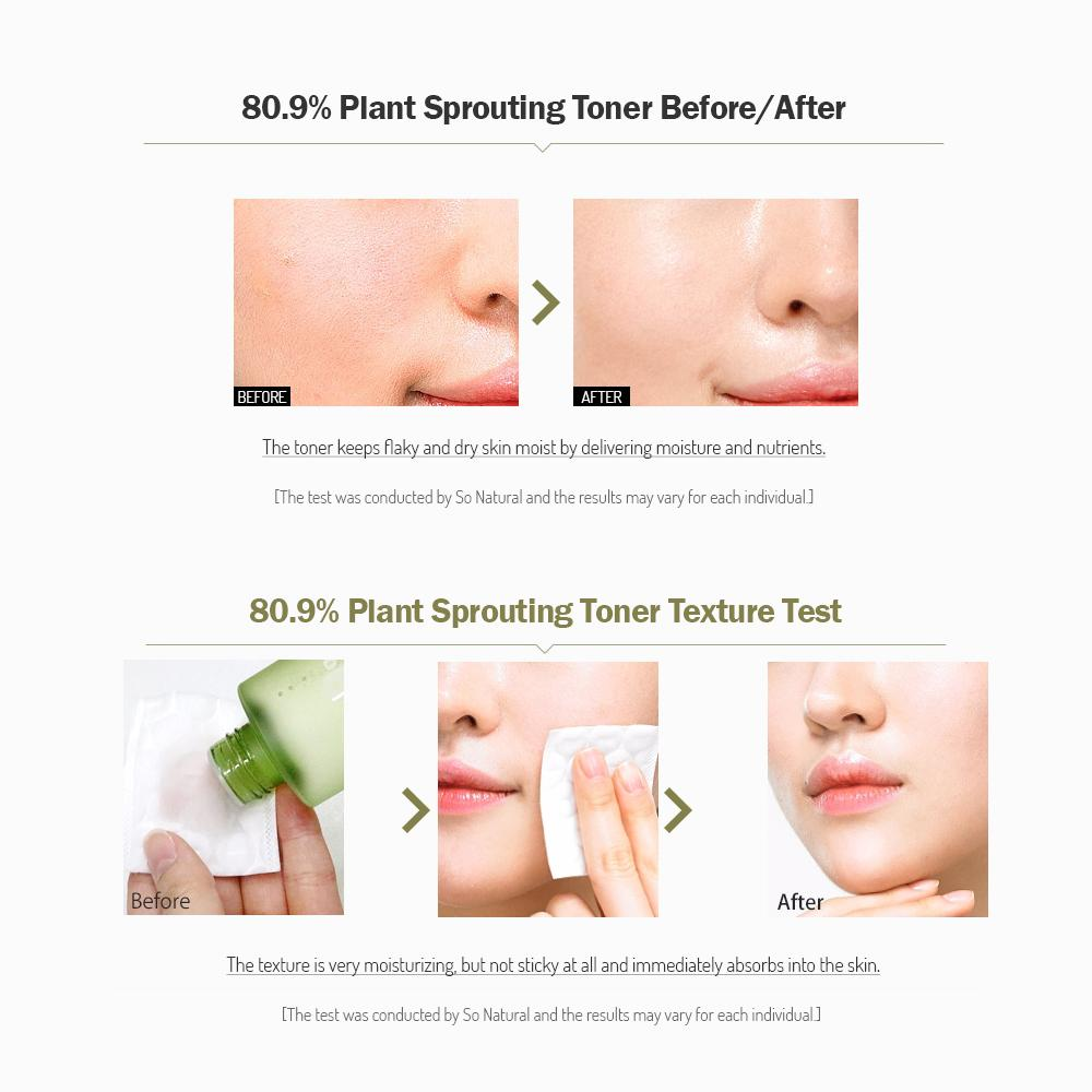 So Natural - 80.9% Plant Sprouting Essence Toner