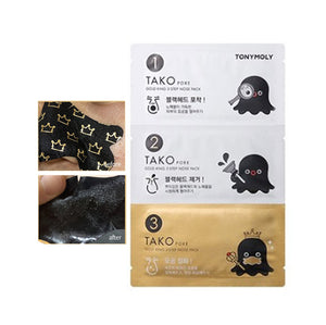 TONYMOLY - Tako Pore Gold King 3-Step Nose Pack
