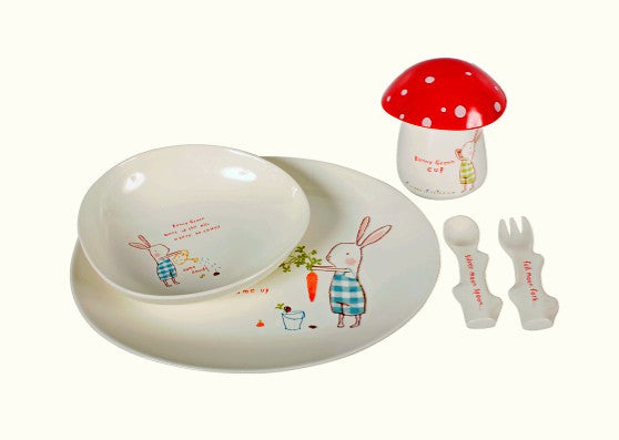 Bunny Green Melamine 6 pcs. set in gift box