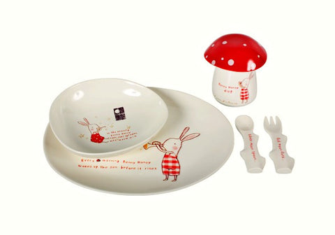 Bunny Honey Melamine 6 pcs. set in gift-box