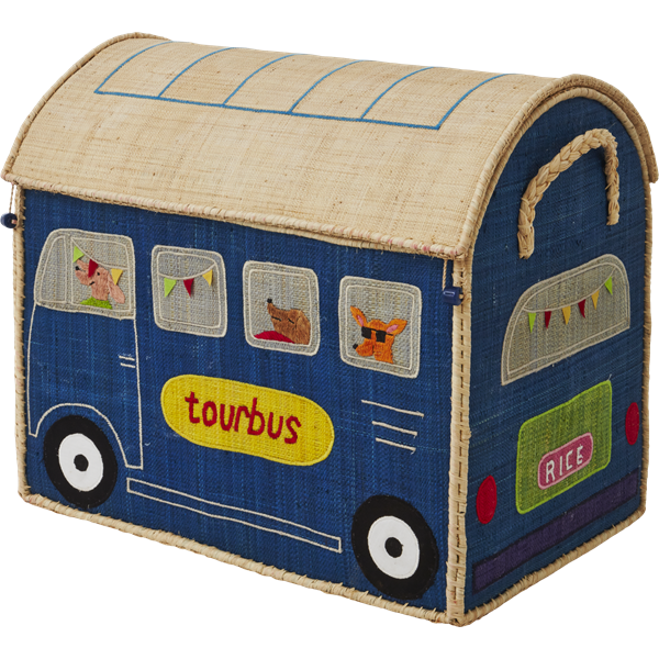 Storage Box - Blue Bus