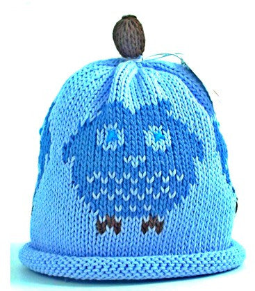 Blue Owl Hat (Size - 3 to 6 months)