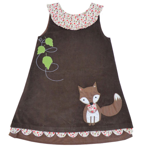Dress - Brown with Little Fox