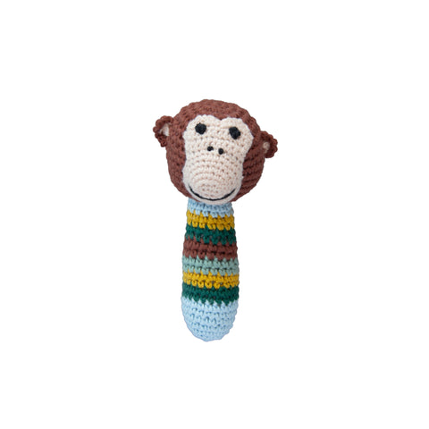 Crochet Monkey Rattle