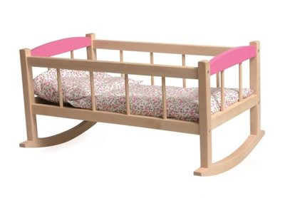Cradle with flower bedding