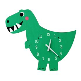 Dex dinosaur wooden wall clock