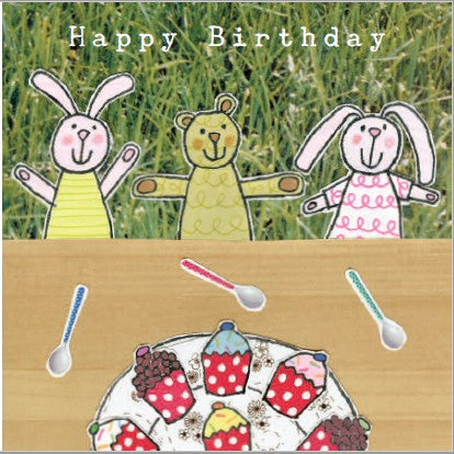 Happy Birthday - Teddies Tea Party