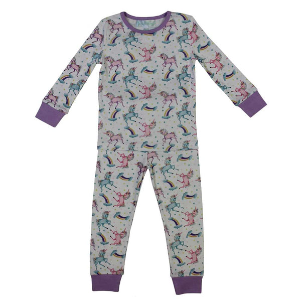 Pyjamas - Unicorn - Purple trim