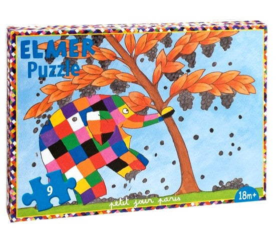 PUZZLE ELMER 9 PIECES