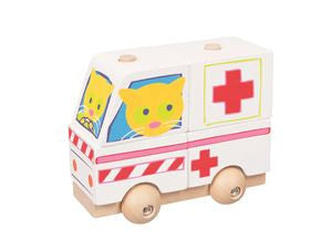 Stacking Ambulance Car - Wood