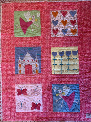 Coral fairy quilt