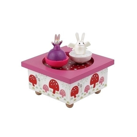 Dancing music box  Angel Bunny pink