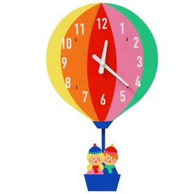 Hot air balloon wooden clock