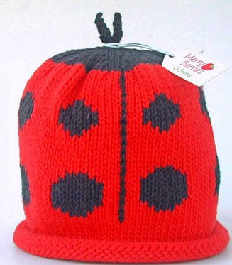 Ladybird Hat (Size - 3 to 6 months)