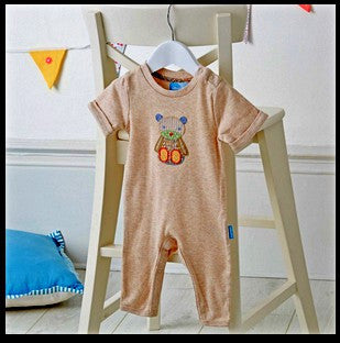 Patchwork Bear Romper