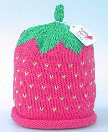 Raspberry Hat (Size - 6 to 12 months)
