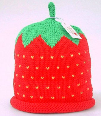 Strawberry Hat (Size - 6 to 12 months)