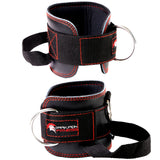 Dark Iron Fitness Leather Ankle Straps