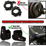 Dark Iron Fitness Spring Locking Barbell Clamps
