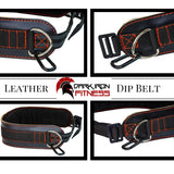 Dark Iron Fitness Leather Weightlifting Dip Belt